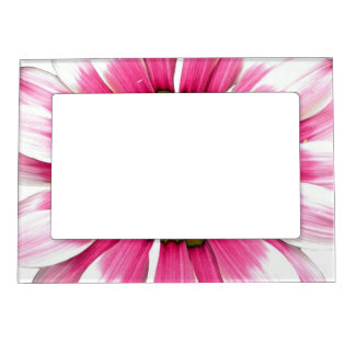 Abstract Pink Sunflower Magnetic Picture Frame