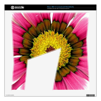 Abstract Pink Sunflower Skin For Xbox 360 S