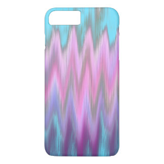 Abstract Pink Teal Girly Ikat Chevron Zigzag iPhone 7 Plus Case
