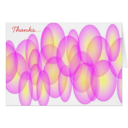 """Abstract pink """"Thanks"""" card"""