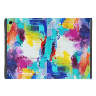 Abstract Pink Turquoise Colors iPad Case