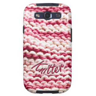 Abstract Pink Variegated Knitter Samsung Galaxy S3 Case