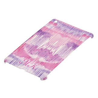 Abstract pink whimsical watercolor striped pattern case for the iPad mini