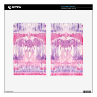 Abstract pink whimsical watercolor striped pattern skins for kindle fire