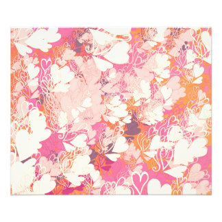 Abstract Pink White Watercolors Hearts Pattern Photo Print