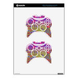Abstract Pink Yellow lion Xbox 360 Controller Skins