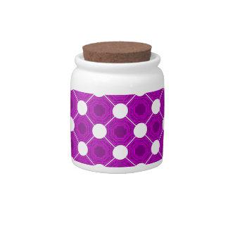 Abstract PinkPurple Square Candy / Sugar Jar Candy Jar
