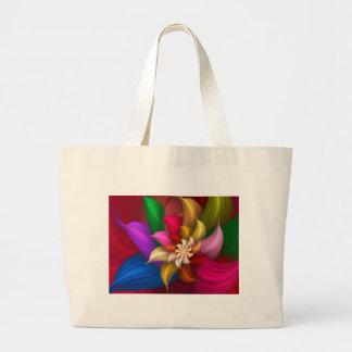 Abstract Pinwheel Canvas Bags