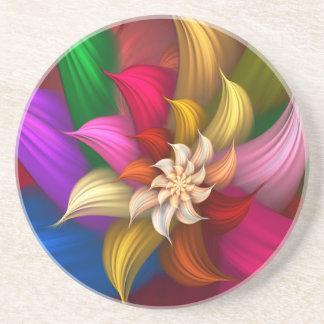 Abstract Pinwheel Drink Coasters