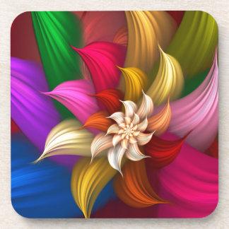 Abstract Pinwheel Beverage Coasters