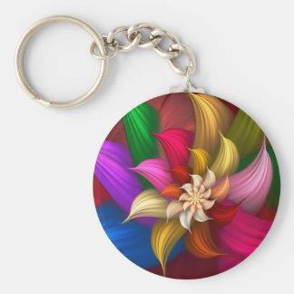 Abstract Pinwheel Key Chain