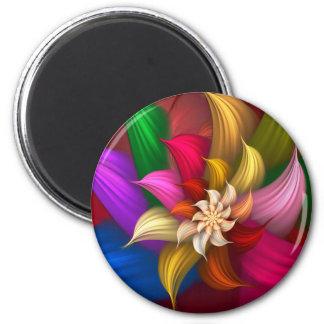 Abstract Pinwheel Fridge Magnets