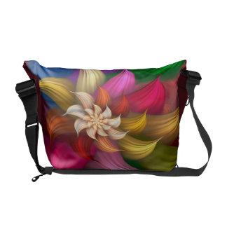 Abstract Pinwheel Messenger Bags