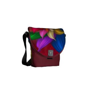 Abstract Pinwheel Courier Bag