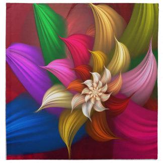 Abstract Pinwheel Printed Napkin