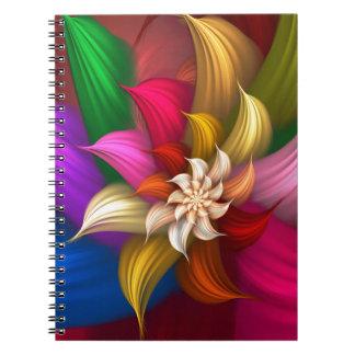 Abstract Pinwheel Spiral Note Book