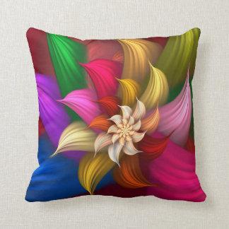 Abstract Pinwheel Throw Pillows