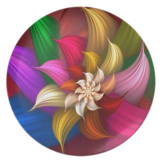 Abstract Pinwheel Plates