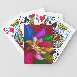 Abstract Pinwheel Bicycle Poker Cards