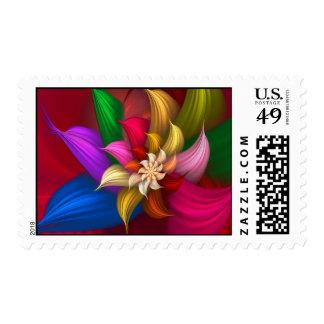 Abstract Pinwheel Postage