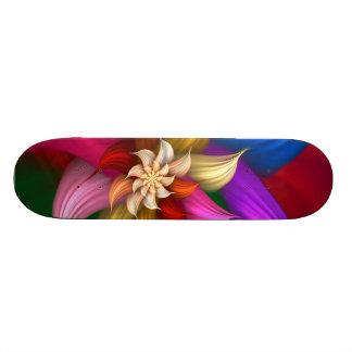 Abstract Pinwheel Custom Skateboard