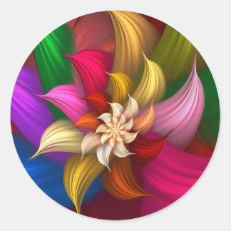 Abstract Pinwheel Sticker