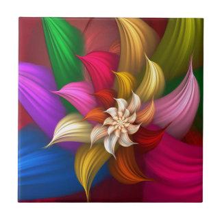 Abstract Pinwheel Ceramic Tile