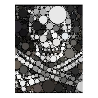 Abstract Pirate Skull and Cross Swords Postcard