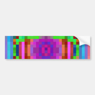Abstract Pixel Art Colorful Bumper Sticker