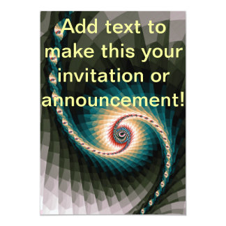 Abstract Pixel Spiral Card