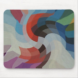 Abstract Pixels Mouse Pad