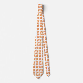 Abstract pizza font neck tie
