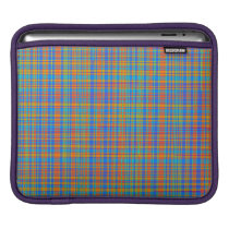 Abstract Plaid Pattern Background iPad Sleeve