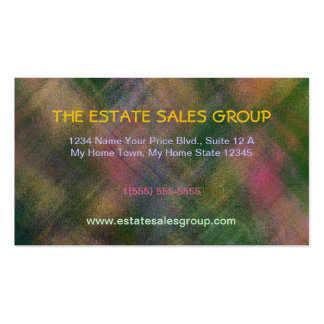 """""""ABSTRACT/PLAID/PINKS,GREENS, GOLDS/CUSTOMIZABLE BUSINESS CARD"""