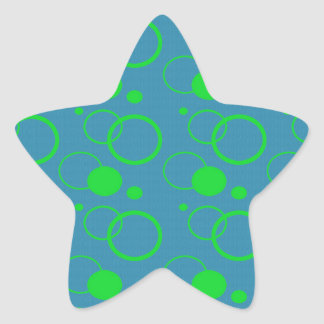 Abstract Planetary Pattern Star Sticker