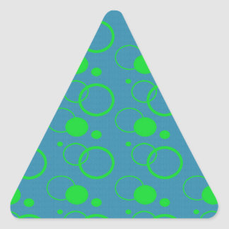 Abstract Planetary Pattern Triangle Sticker