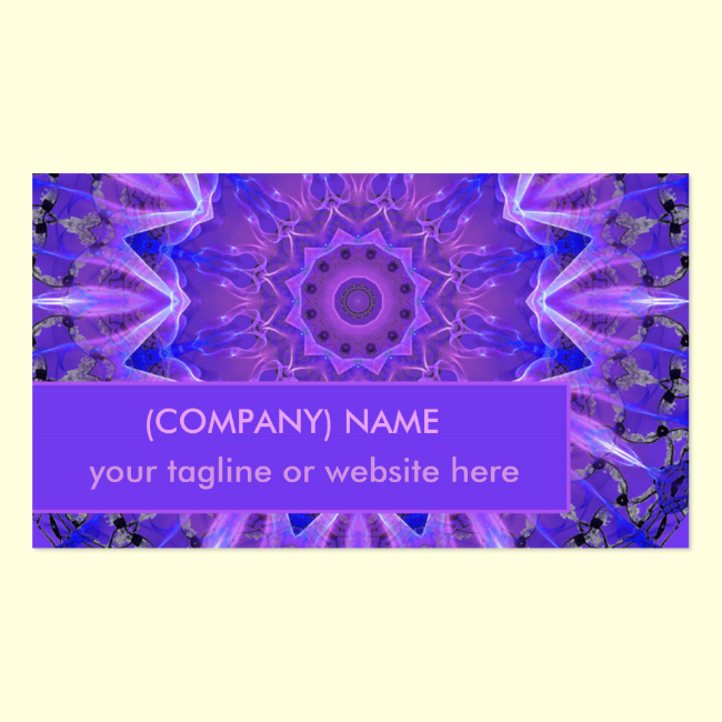 Abstract Plum Crystal Palace Lattice Lace Mandala Double-Sided Standard Business Cards (Pack Of 100)
