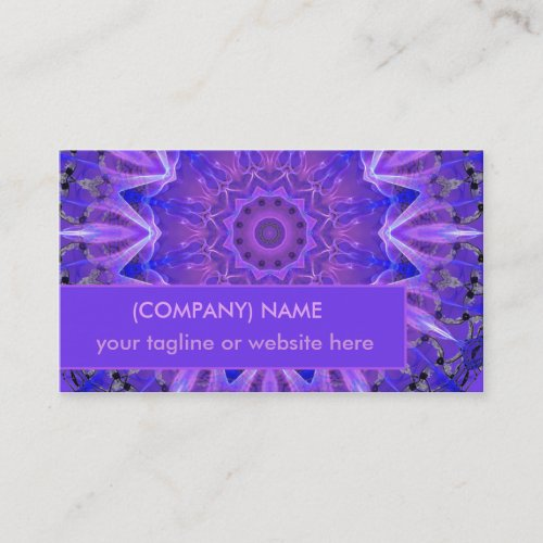 Abstract Plum Crystal Palace Lattice Lace Mandala Business Card