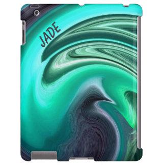 Abstract Plum Dove in Aqua iPad Case