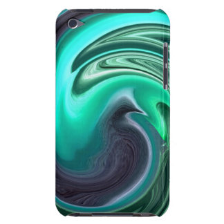 Abstract Plum Dove in Aqua iPod Touch Case