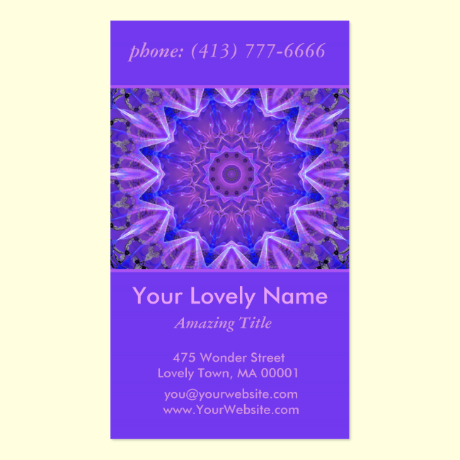 Abstract Plum Ice Crystal Palace Lattice Lace Double-Sided Standard Business Cards (Pack Of 100)
