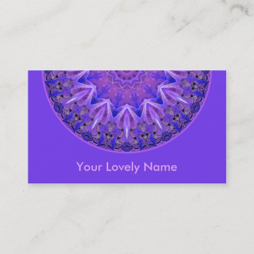 Abstract Plum Ice Crystal Palace Lattice Purple Business Card