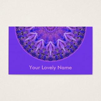 Abstract Plum Ice Crystal Palace Lattice Purple Business Card
