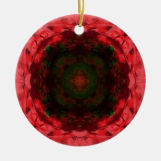 Abstract Poinsettia Ornament