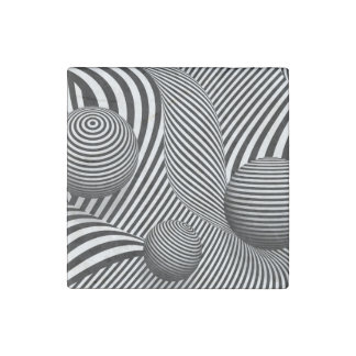 Abstract - Poke out my eyes Stone Magnet