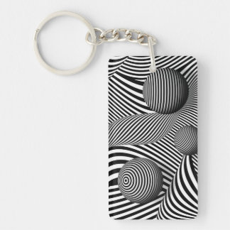 Abstract - Poke out my eyes Keychain