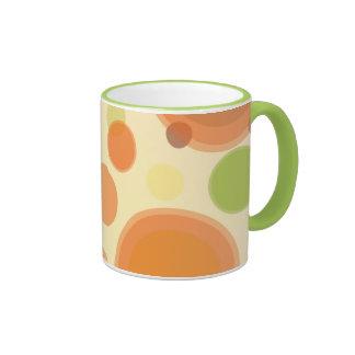 Abstract Polka Dot Design Coffee Mug Coffee Mugs