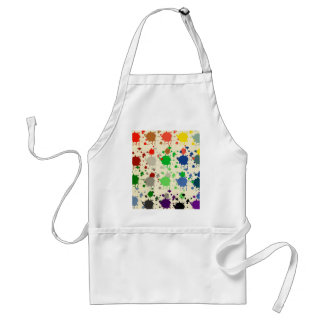 Abstract,polka dot, multi color, drip paint art apron