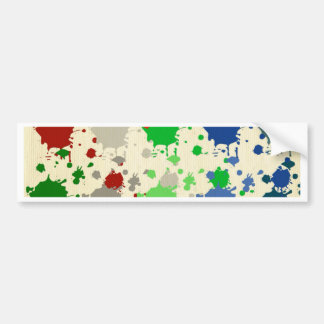 Abstract,polka dot, multi color, drip paint art car bumper sticker