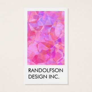 Abstract Polygon Art Design Business Card